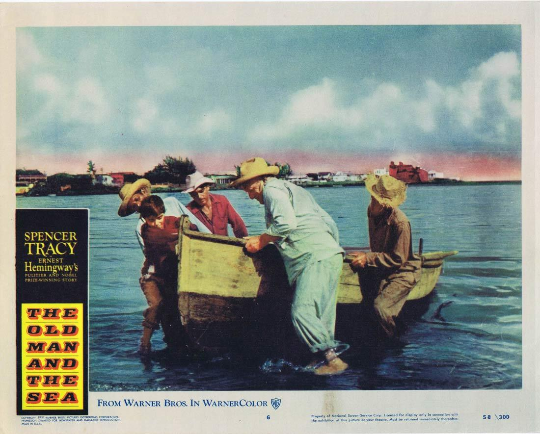 THE OLD MAN AND THE SEA Original Lobby Card 6 Spencer Tracy Ernest Hemingway
