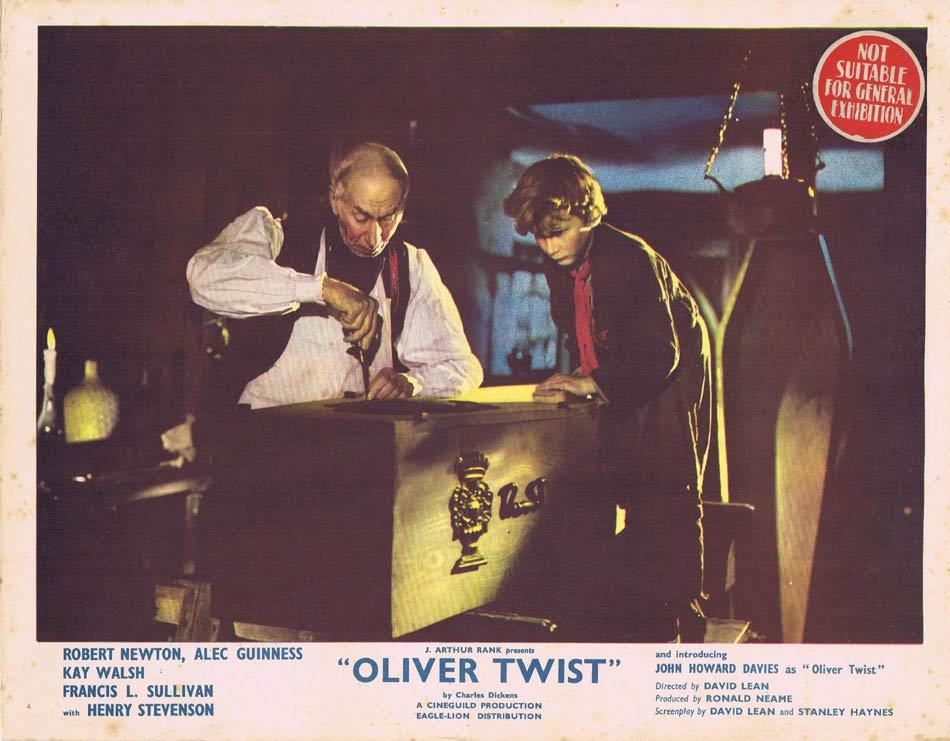 OLIVER TWIST Lobby card David Lean Charles Dickens