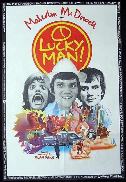 O LUCKY MAN Original One sheet Movie poster Malcolm McDowell