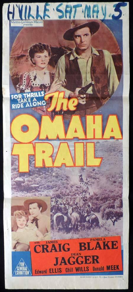 THE OMAHA TRAIL Daybill Movie Poster James Craig Western