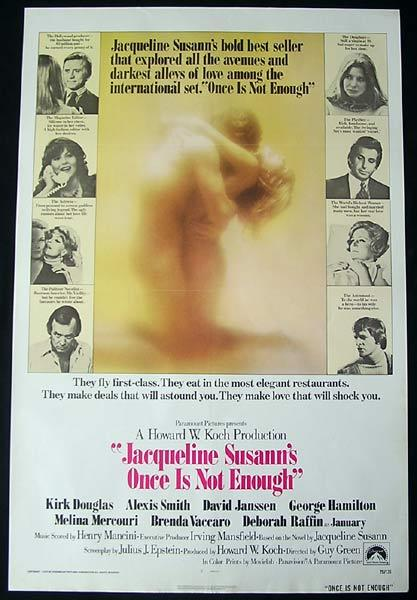 ONCE IS NOT ENOUGH Original One sheet Movie poster Jacqueline Susann