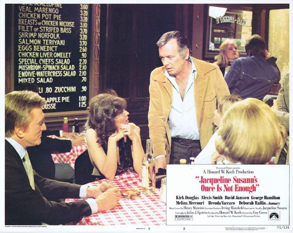 ONCE IS NOT ENOUGH Lobby Card 8 Kirk Douglas Alexis Smith David Janssen