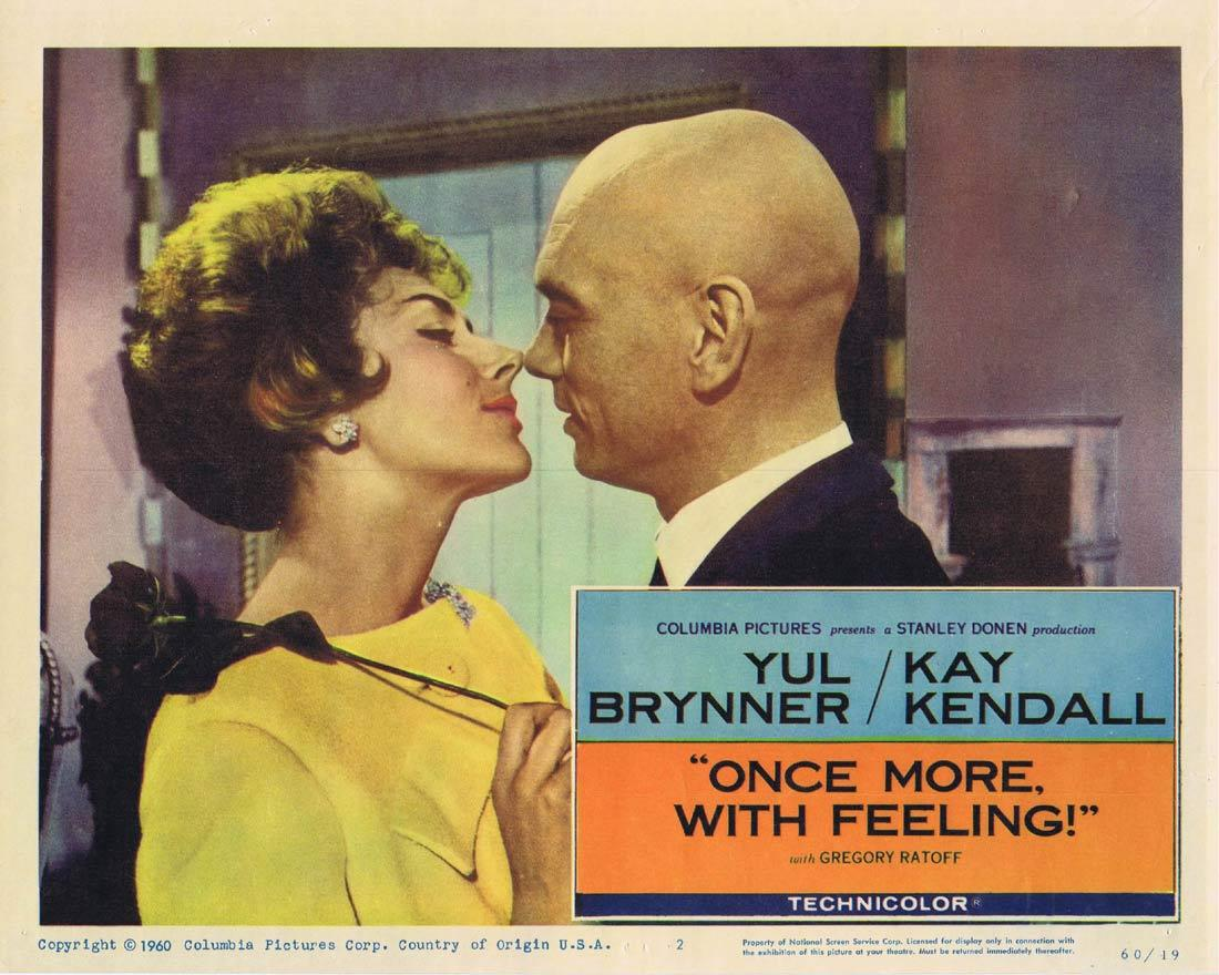 ONCE MORE WITH FEELING Lobby Card 2 Yul Brynner Kay Kendall Gregory Ratoff