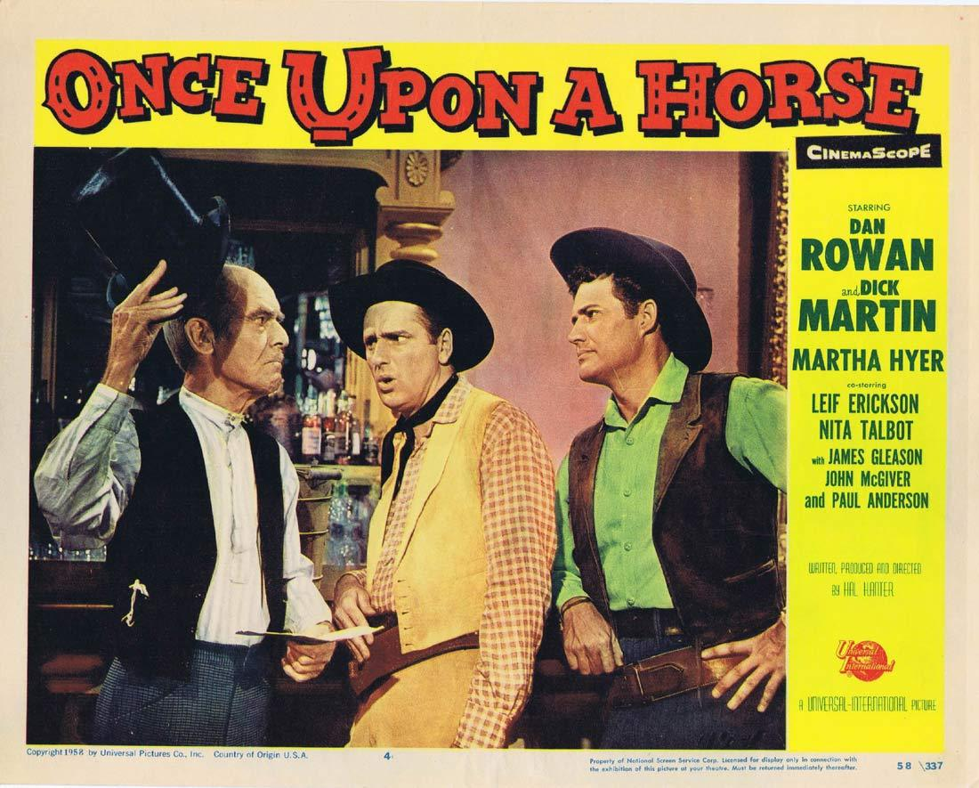 ONCE UPON A HORSE Original Lobby Card 4 Dan Rowan Dick Martin