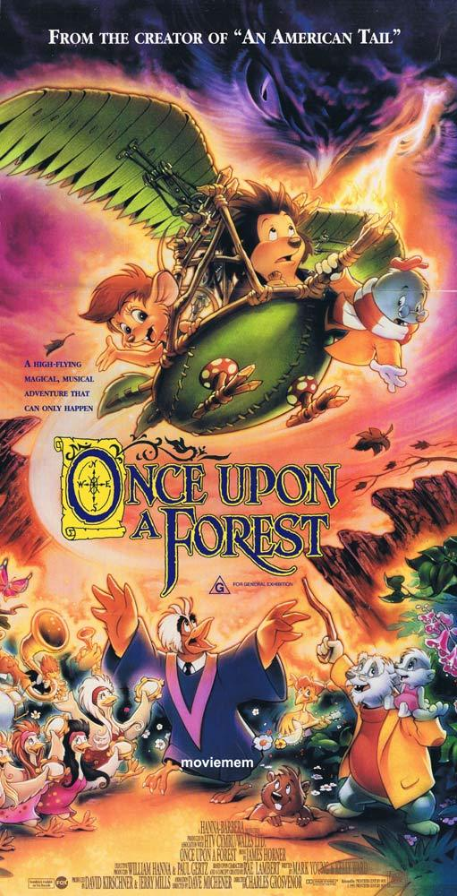 ONCE UPON A FOREST Original Daybill Movie poster