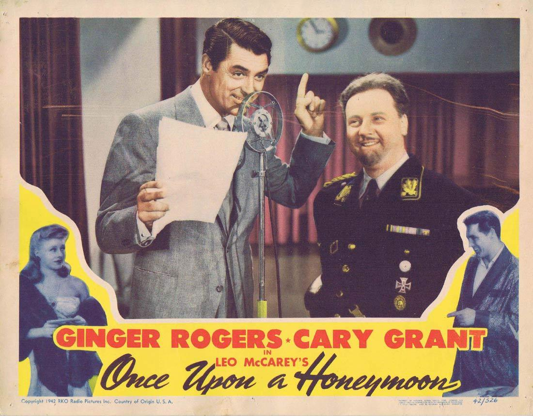 ONCE UPON A HONEYMOON Lobby Card Cary Grant Ginger Rogers Walter Slezak