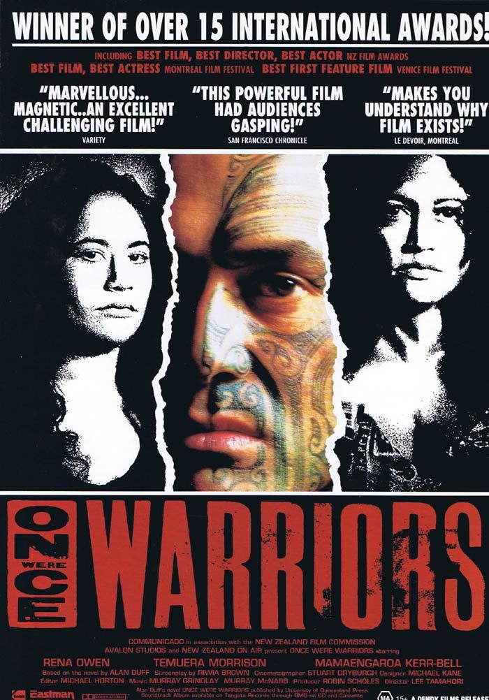 ONCE WERE WARRIORS Original Movie Flyer Lee Tamahori
