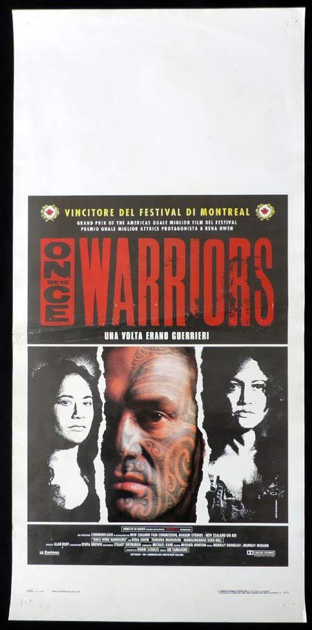 ONCE WERE WARRIORS Italian Locandina Movie Poster Temuera Morrison