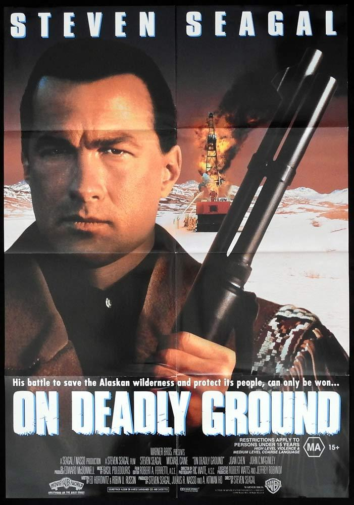 ON DEADLY GROUND Original One sheet Movie poster Steven Seagal