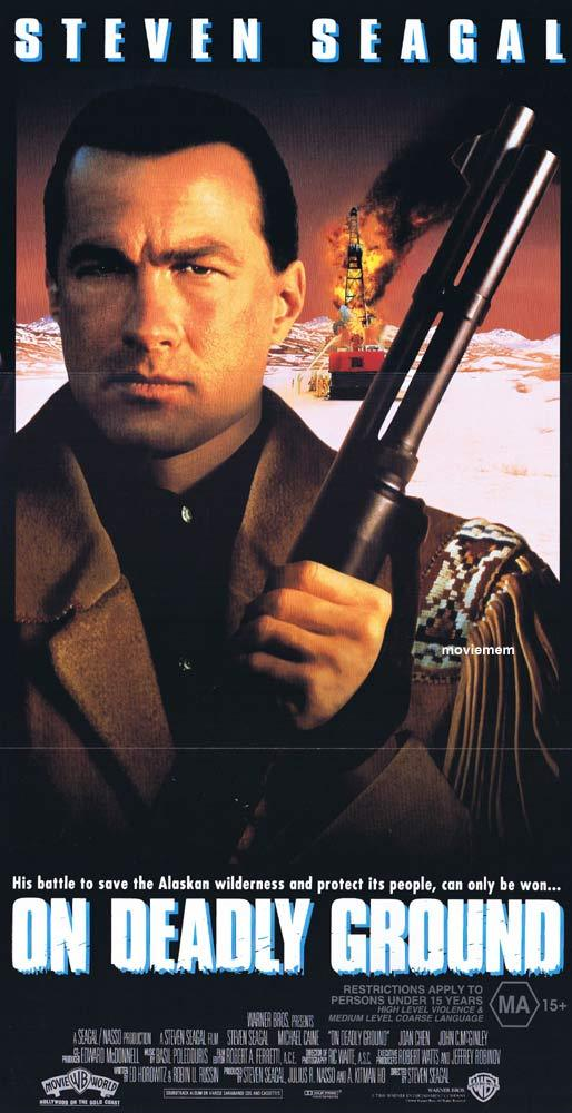ON DEADLY GROUND Original Daybill Movie poster Steven Seagal