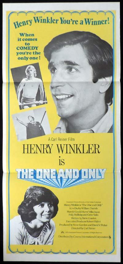 THE ONE AND ONLY Daybill Movie poster Henry Winkler