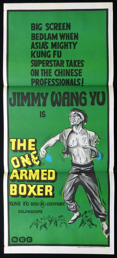 ONE ARMED BOXER Jimmy Wang Yu KUNG FU Daybill Movie poster
