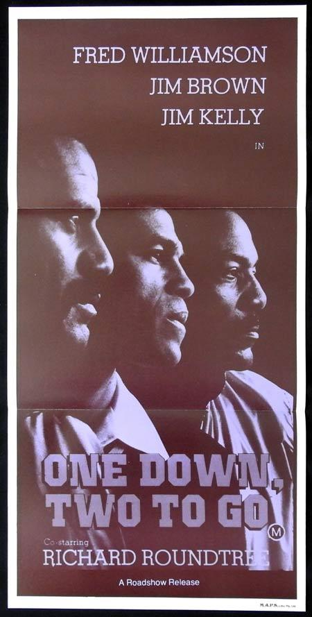 ONE DOWN TWO TO GO Original Daybill Movie Poster Fred Williamson Jim Brown