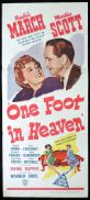 ONE FOOT IN HEAVEN Original Daybill Movie Poster Fredric March Marchant Graphics