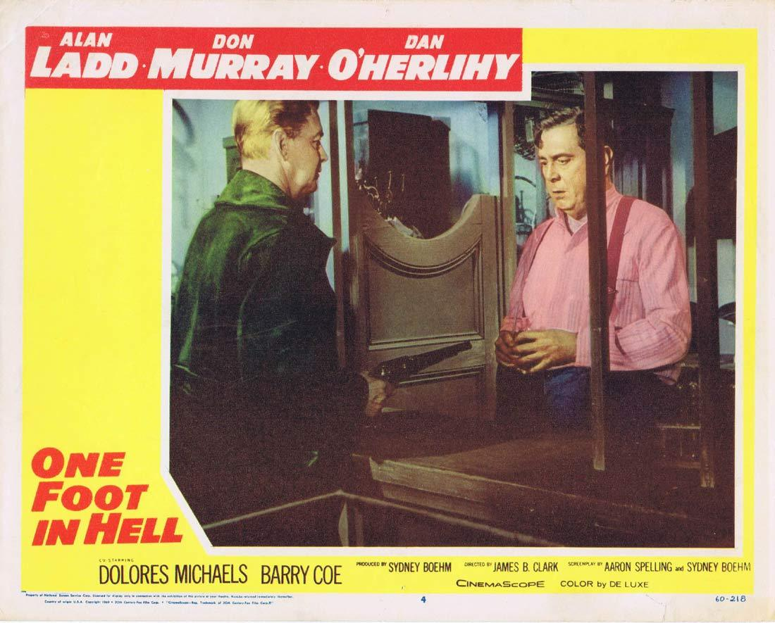 ONE FOOT IN HELL Original Lobby Card 4 Alan Ladd Don Murray