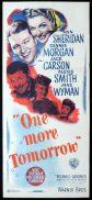 ONE MORE TOMORROW Original Daybill Movie Poster Ann Sheridan Dennis Morgan