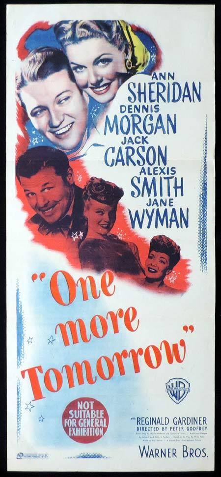 ONE MORE TOMORROW Original Daybill Movie Poster Ann Sheridan Dennis Morgan