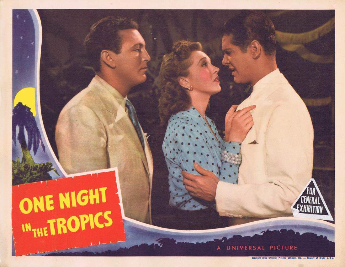 ONE NIGHT IN THE TROPICS Lobby Card Allan Jones Nancy Kelly Robert Cummings