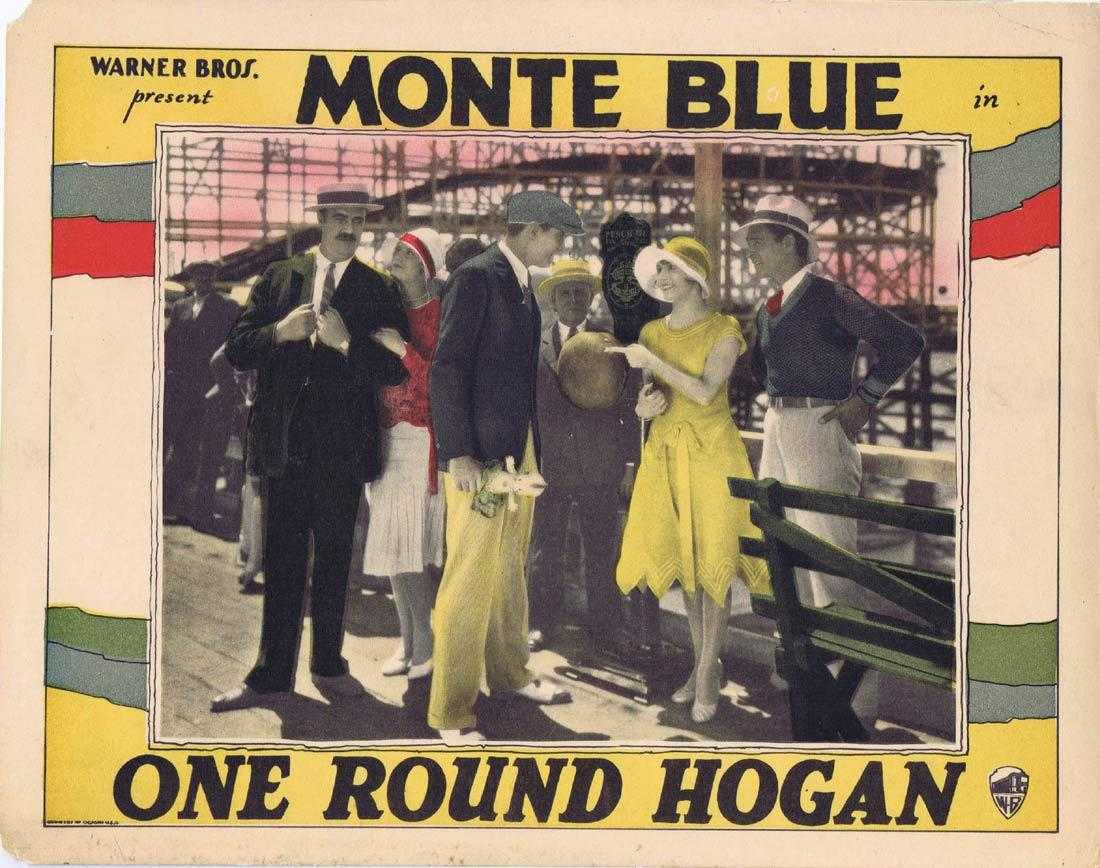 ONE ROUND HOGAN Lobby Card Monte Blue Leila Hyams SILENT CINEMA Boxing