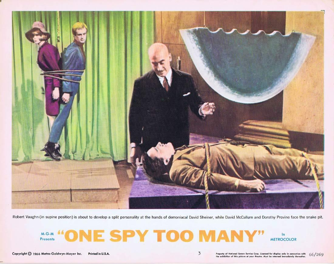 ONE SPY TOO MANY Lobby Card 3 MAN FROM UNCLE Robert Vaughn David McCallum