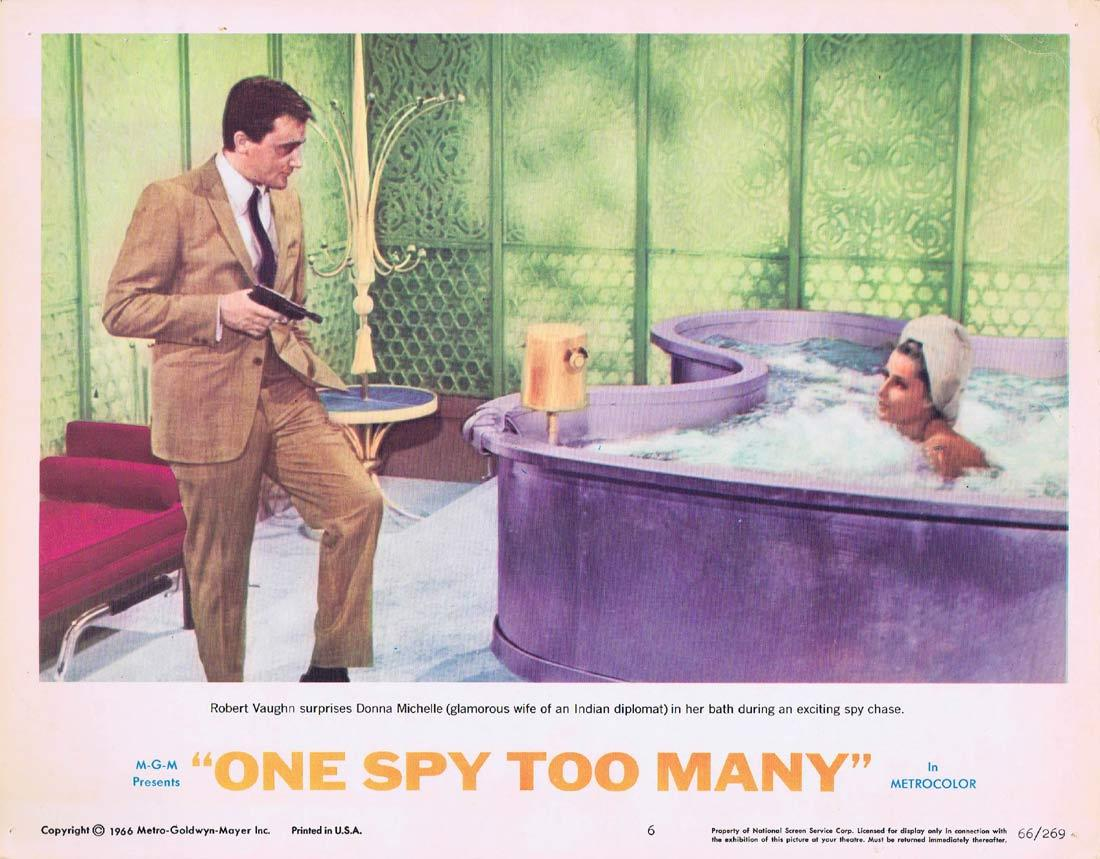 ONE SPY TOO MANY Lobby Card 6 MAN FROM UNCLE Robert Vaughn David McCallum