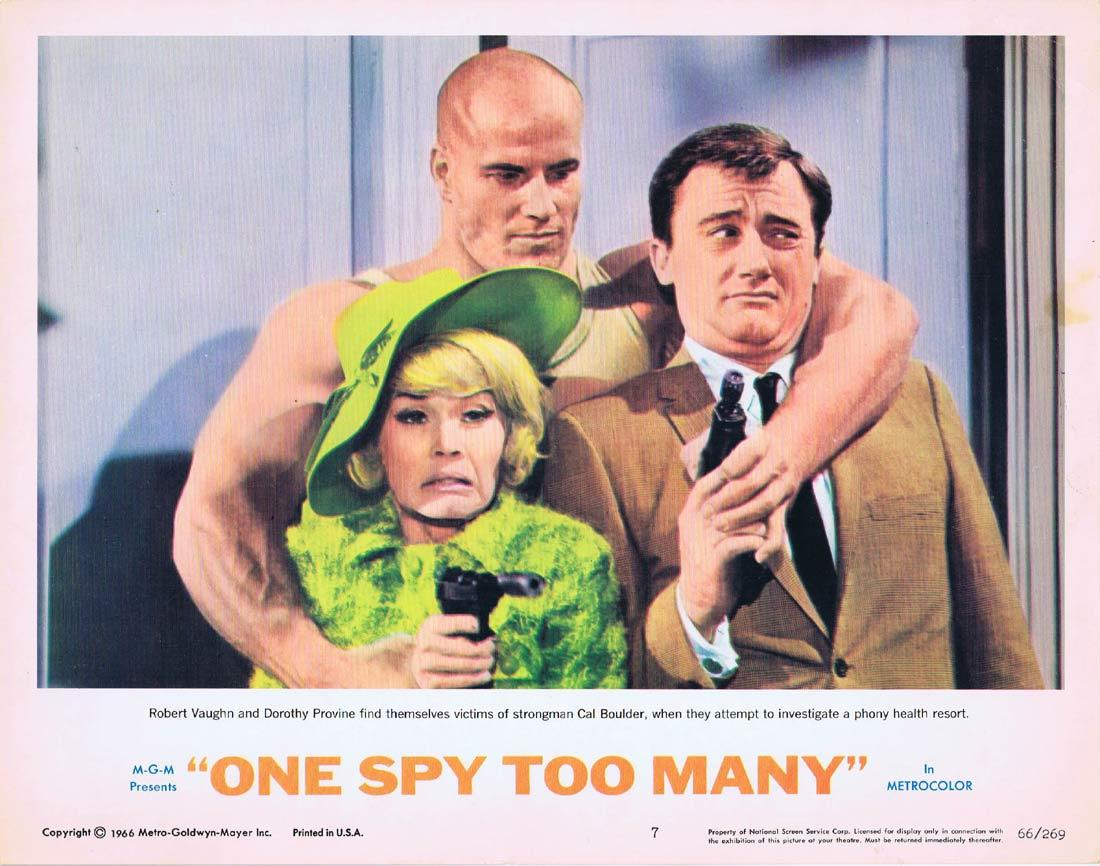 ONE SPY TOO MANY Lobby Card 7 MAN FROM UNCLE Robert Vaughn David McCallum
