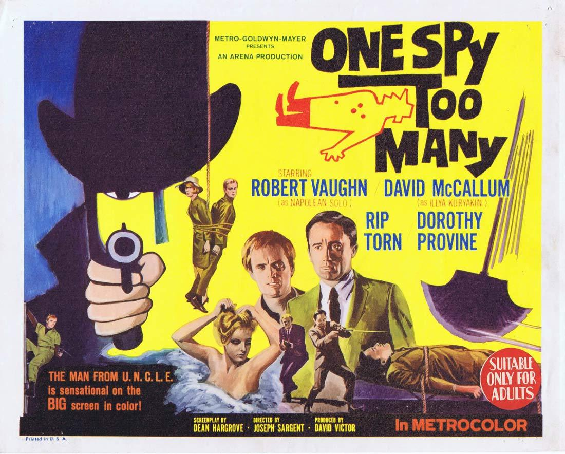 ONE SPY TOO MANY Original Title Lobby Card Man from Uncle