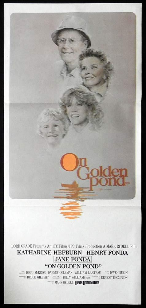 ON GOLDEN POND Original Daybill Movie Poster Katharine Hepburn Henry Fonda