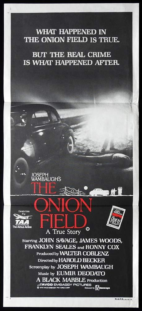 THE ONION FIELD Original Daybill Movie Poster John Savage James Woods