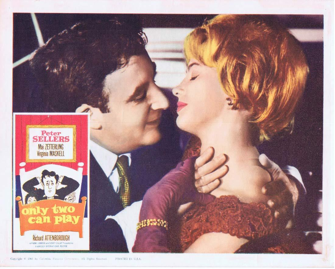ONLY TWO CAN PLAY Original Lobby Card Peter Sellers Mai Zetterling