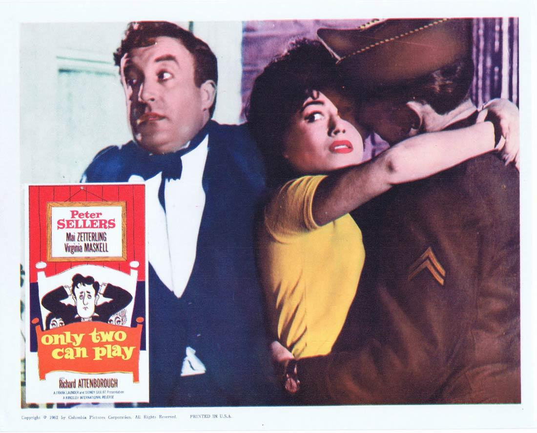 ONLY TWO CAN PLAY Lobby Card 4 Peter Sellers Mai Zetterling Virginia Maskell