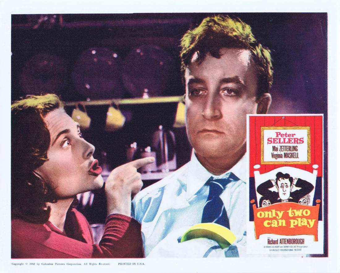 ONLY TWO CAN PLAY Lobby Card 5 Peter Sellers Mai Zetterling Virginia Maskell