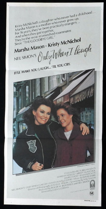 ONLY WHEN I LARF Australian Daybill Movie poster Neil Simon Kristy McNichol