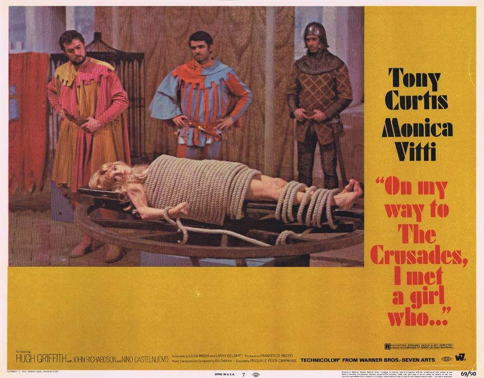 ON MY WAY TO THE CRUSADES I MET A GIRL WHO Lobby Card 7 Tony Curtis