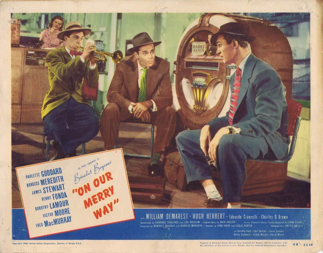 ON OUR MERRY WAY Original Lobby Card 4 James Stewart Henry Fonda