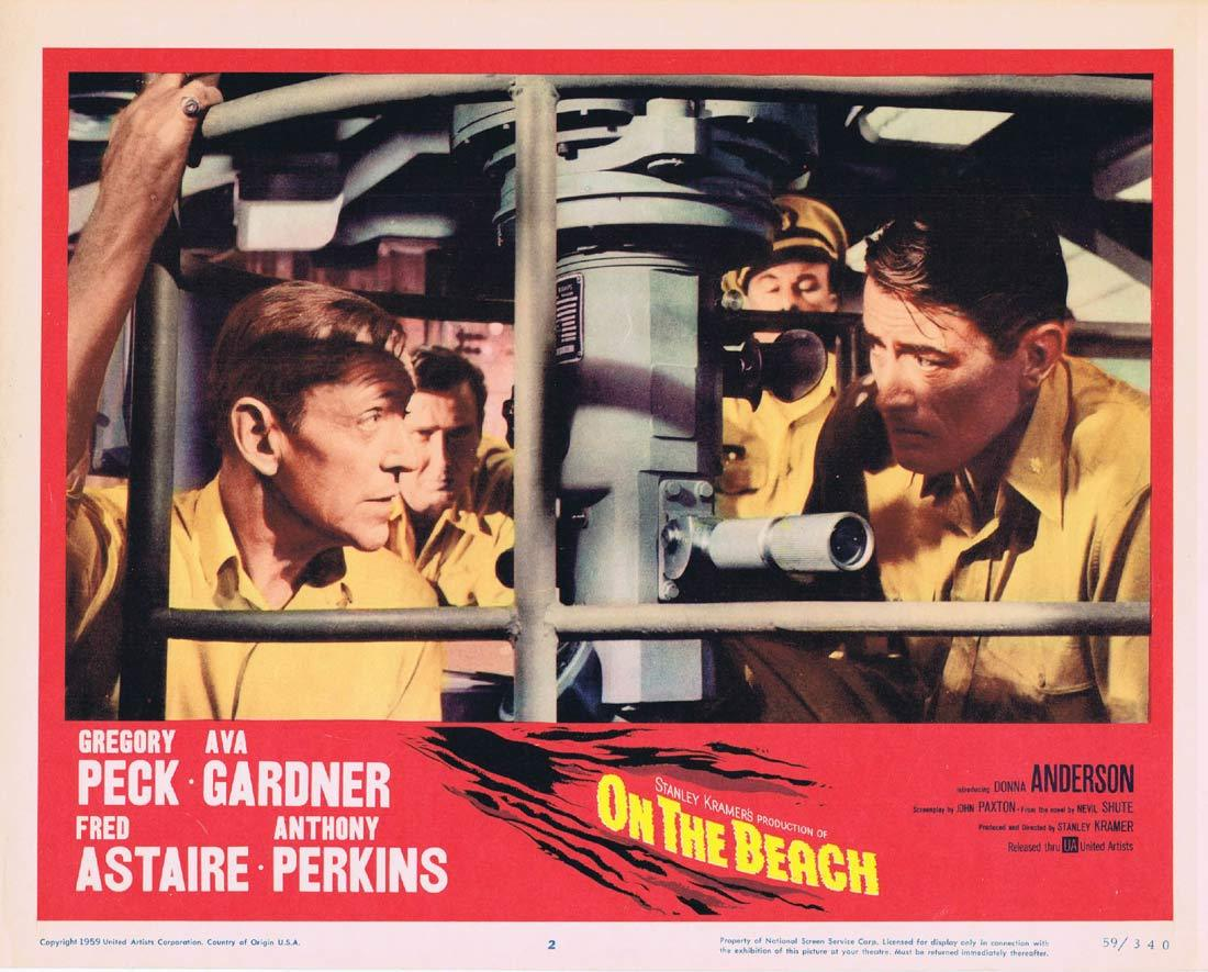 ON THE BEACH Lobby Card 2 Gregory Peck Fred Astaire Ava Gardner