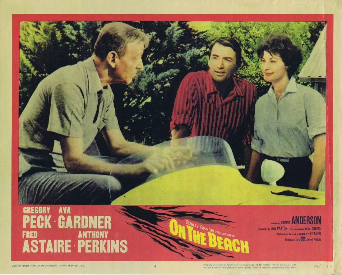 ON THE BEACH Lobby Card 4 Gregory Peck Fred Astaire Ava Gardner