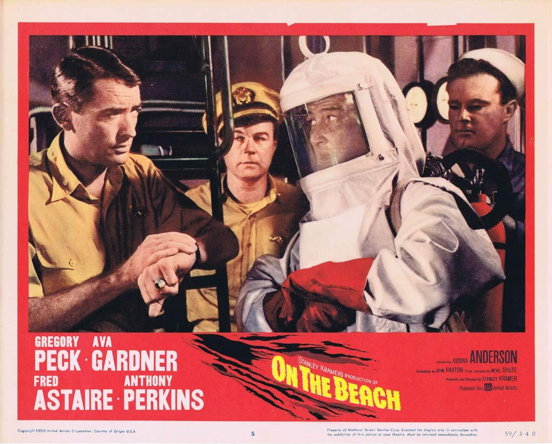 ON THE BEACH Lobby Card 5 Gregory Peck Fred Astaire Ava Gardner