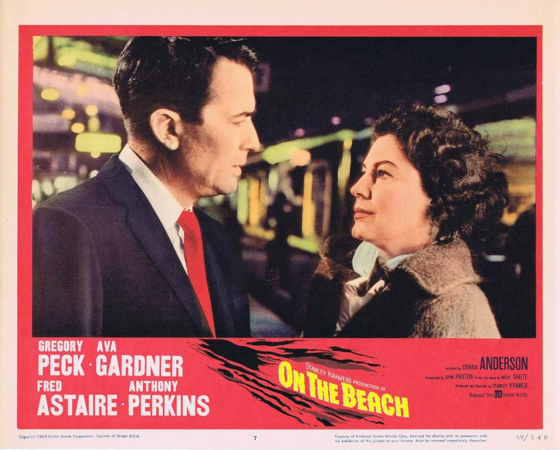 ON THE BEACH Lobby Card 7 Gregory Peck Fred Astaire Ava Gardner