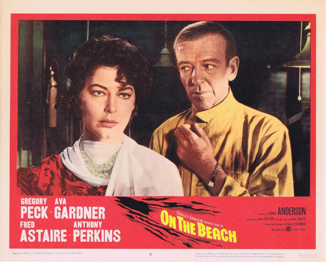 ON THE BEACH Lobby Card 8 Gregory Peck Fred Astaire Ava Gardner