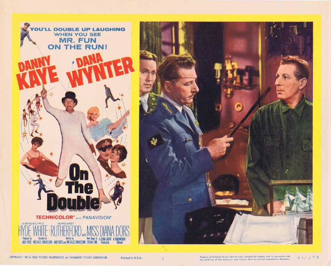 ON THE DOUBLE Original Lobby Card 2 Danny Kaye Dana Wynter