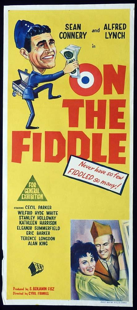 ON THE FIDDLE Original Daybill Movie Poster Sean Connery British Comedy