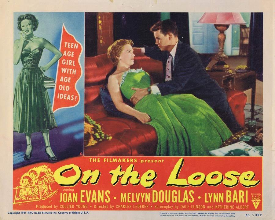 ON THE LOOSE Lobby Card 6 Joan Evans Lynn Bari Bad Girl