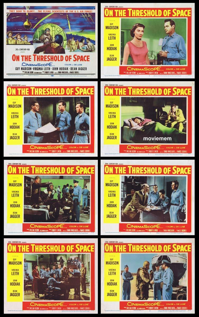 ON THE THRESHOLD OF SPACE Lobby Card Set Guy Madison Sci Fi