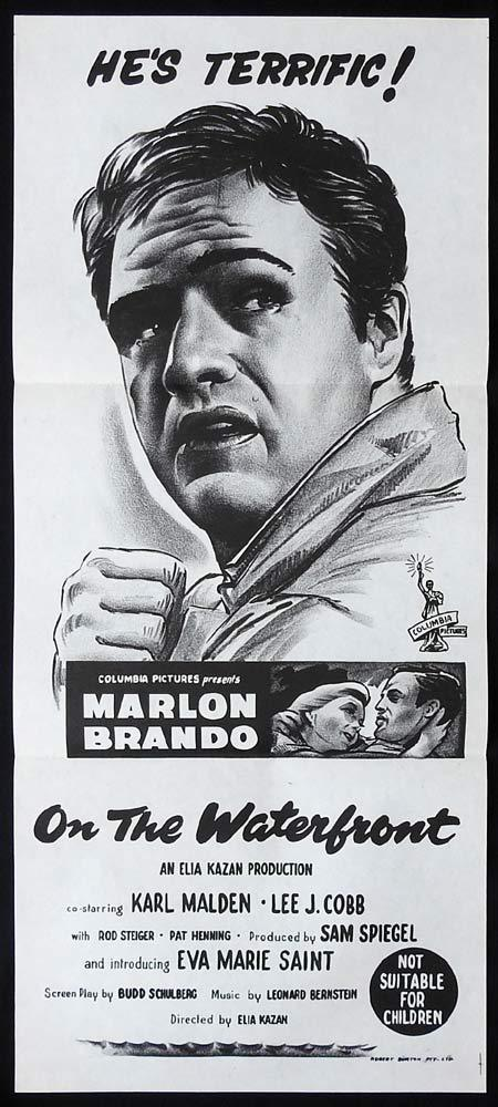 ON THE WATERFRONT Original Daybill Movie Poster Marlon Brando 1960sr