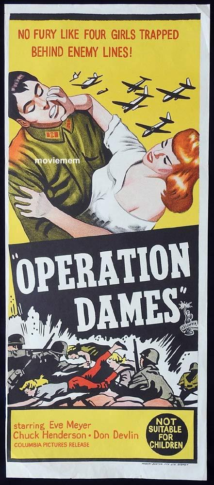 OPERATION DAMES Original Daybill Movie Poster Eve Meyer Chuck Henderson