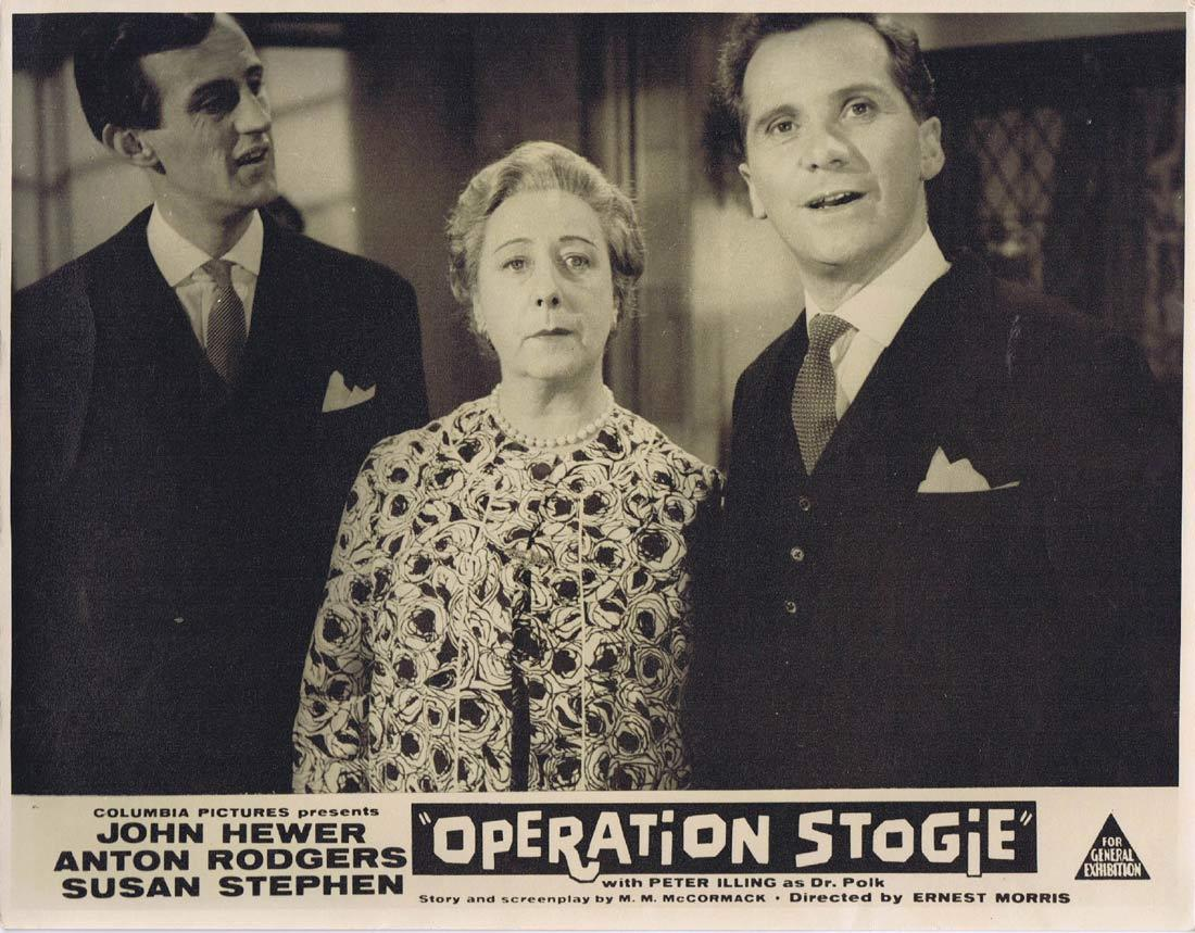 OPERATION STOGIE Original Lobby Card 2 John Hewer Anton Rogers Susan Stephen