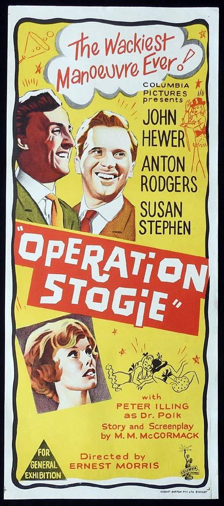 OPERATION STOGIE Original Daybill Movie Poster Anton Rogers John Hewer