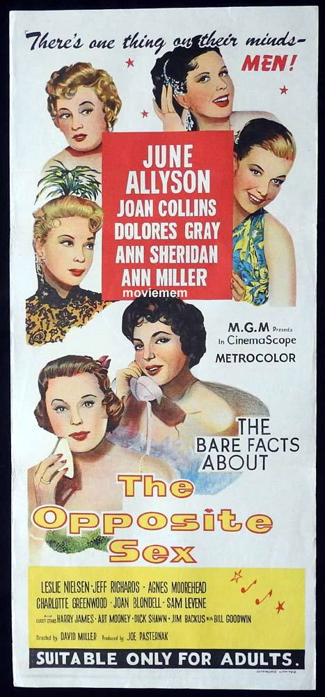 THE OPPOSTIE SEX Original Daybill Movie Poster June Allyson Joan Collins Dolores Gray