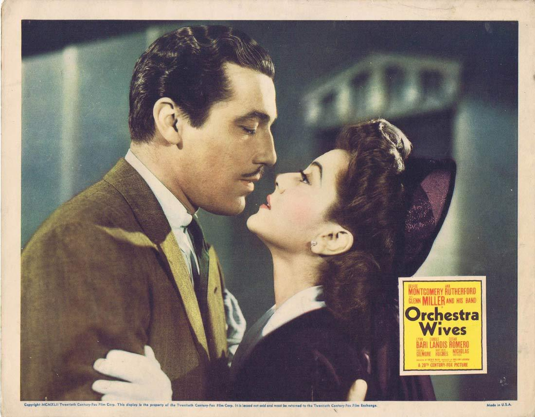 ORCHESTRA WIVES Original Lobby Card George Montgomery Ann Rutherford Lynn Bari 1942